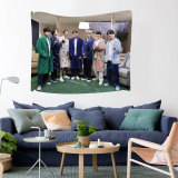 Kpop BTS Tapestry Bangtan Boys New Album BE Tapestry Pictorial Printed Wall Cloth Bedroom Decoration Wall Cloth Background Cloth
