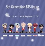 Kpop BTS Figure 5th Generation Bangtan Boys Figure Cute Anime Cartoon Peripheral Decoration Toy Room Decoration Creative Gift