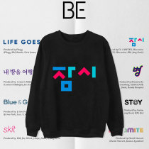 Kpop BTS Sweatshirt Bangtan Boys New Album BE Round Neck Sweatshirt Lazy Style Pullover Top Long Sleeve Sweatshirt