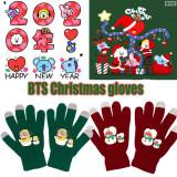 Kpop BTS Gloves Bangtan Boys Christmas Gloves Warm Christmas Touch Screen Gloves