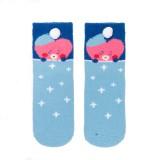 Kpop BTS Socks Winter Cartoon Sweet Korean Style Warm Thick Coral Fleece Socks Medium Tube Candy Color Sleep Socks