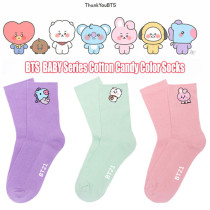 Kpop BTS Socks Bangtan Boys Socks BABY Series Cotton Socks Candy Color Warm Socks Stockings Woolen Socks