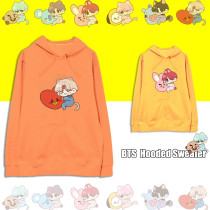 Kpop BTS Sweater Bangtan Boys Hooded Sweater Casual Printed Cartoon Top CHIMMY COOKY KOYA TATA