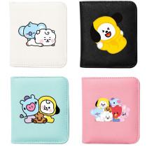 Kpop BTS Wallet Bangtan Boys Baby Doll Wallet Clip Card Case Printed Coin Purse