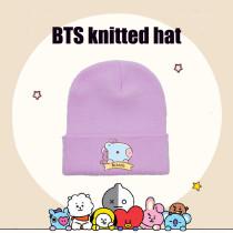 Kpop BTS Knitted Hat Bangtan Boys Knitted Hat Woolen Hat Warm Hat CHIMMY COOKY KOYA TATA