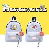 Kpop BTS Backpack Bangtan Boys Backpack Baby Series Backpack Canvas Bag CHIMMY COOKY KOYA TATA