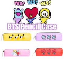 Kpop BTS Pencil Case Bangtan Boys Pencil Case Baby Series Colored Pencil Case Pen Holder Storage Bag Coin Purse
