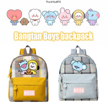 Kpop BTS Backpack Bangtan Boys Backpack Baby Backpack Canvas Bag CHIMMY COOKY KOYA TATA