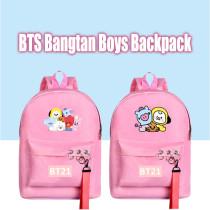 Kpop BTS School Bag Bangtan Boys Christmas Backpack Cartoon Cute Canvas Bag CHIMMY COOKY KOYA TATA