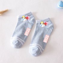 Kpop BTS Socks Bangtan Boys Socks Baby Series Short Tube Boat Socks Breathable Socks
