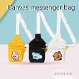 Kpop BTS Shoulder Bag Bangtan Boys Shoulder Bag Baby Doll Cartoon Messenger Bag Canvas Bag