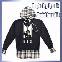 Kpop BTS Sweatshirt Bangtan Boys Dynamic Hooded Sweatshirt Pullover Print Top Sweatshirt V SUGA JIN JIMIN