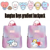 Kpop BTS Backpack Bangtan Boys Backpack Baby Series Backpack Gradient Nylon School Bag Chimmy Cooky Koya