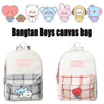 Kpop BTS Backpack Bangtan Boys School Bag Baby Series Backpack Backpack Printed Canvas Bag CHIMMY COOKY TATA