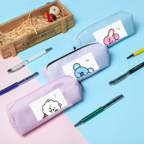 Kpop BTS Pencil Case Bangtan Boys Pencil Case Storage Coin Purse Stationery Box CHIMMY COOKY KOYA TATA