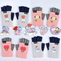 Kpop BTS Gloves Bangtan Boys Gloves Gloves Warm Gloves Leaky Finger Gloves CHIMMY COOKY TATA KOYA