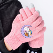 Kpop BTS Gloves Bangtan Boys Gloves Touch Screen Gloves Printed Warm Gloves CHIMMY COOKY KOYA TATA