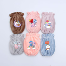 Kpop BTS Sleeve Bangtan Boys Baby Short Flannel Sleeve Hand Sleeve Adult Housework Sleeve