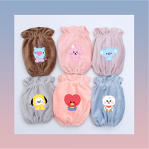 Kpop BTS Sleeve Bangtan Boys Sleeve Baby Short Flannel Sleeve Anti-fouling Work Sleeve  CHIMMY COOKY KOYA TATA