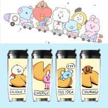 Kpop BTS Bangtan Boys Water Cup Baby Series Straw Cup Double Insulation Outdoor Traveling Cup