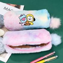Kpop BTS Pencil Case Bangtan Boys Pencil Case Stationery Bag Storage Bag Coin Bag