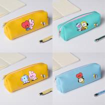 Kpop BTS Pencil Case Bangtan Boys Baby Series Pencil Case PU Coin Purse Zipper Stationery Case Storage Bag