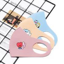 Kpop BTS Mask Bangtan Boys Baby Series Mask Ice Silk Breathable Face Mask Washed Mask