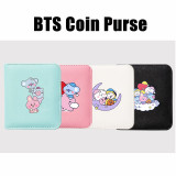 Kpop BTS Coin Purse Bangtan Boys Baby Series Coin Purse Color Trend Print Short Card Case