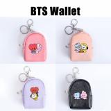 Kpop BTS Wallet Bangtan Boys Baby Series Wallet Storage Bag Card Case Coin Bag Student School Bag Pendant