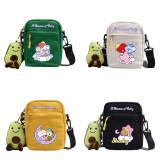 Kpop BTS Shoulder Bag Bangtan Boys Cartoon Cute Student Doll Bag Dream of Baby Dream of Baby Small Square Bag