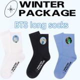 Kpop BTS Socks Bangtan Boys WINTER PACKAGE Long tube socks Sports cotton socks Long tube knitted socks Cotton socks