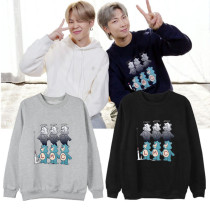 Kpop BTS Sweatshirt Bangtan Boys Color Pullover Top RM Same Style Round Neck Sweatshirt