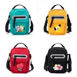 Kpop BTS Shoulder Bag Bangtan Boys Baby Series Small Square Bag One Shoulder Diagonal Flip Canvas Bag