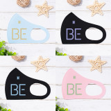 Kpop BTS Mask Bangtan Boys BE Mask Simple Color Printed Ice Silk Adult Letter Four Seasons Mask