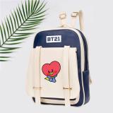 Kpop BTS Backpack Bangtan Boys Baby Series Schoolbag PU Backpack Pen Case Flip Backpack Student Leather Bag