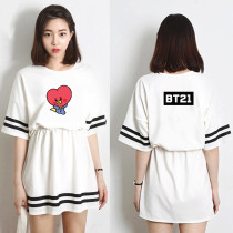 Kpop BT21 Dress Bangtan Boys Dress Dress Print Skirt CHIMMY COOKY KOYA TATA