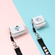 Kpop BTS Headphone Case Bangtan Boys Pure Color Simple Storage Box Bluetooth Headphone Case Headphone Case