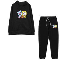 Kpop BTS Sports Suit Bangtan Boys Sports Pants Sweater Casual Sports Suit Hooded Top CHIMMY COOKY KOYA TATA