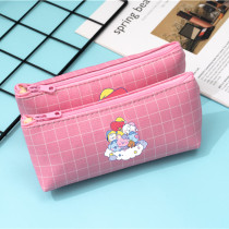 Kpop BTS Pencil Case Bangtan Boys A Dream of Baby Series Pencil Case PU Plaid Coin Purse Stationery Case Clutch