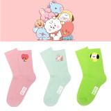 Kpop BTS Socks Bangtan Boys Cute Printed Cotton Socks Socks Casual Socks CHIMMY COOKY KOYA  TATA