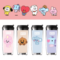 Kpop BTS Water Cup Bangtan Boys Water Cup Baby Series Straw Cup Double Insulation Outdoor Accompanying Coffee Cup
