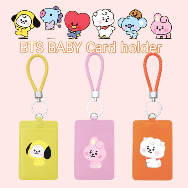Kpop BTS Card Holder Bangtan Boys Cartoon Lanyard Badge Card Holder Work Permit Access Control Bus Card Holder Student School Card Holder