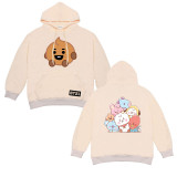 Kpop BTS Sweatshirt Bangtan Boys Loose Casual Top Hooded Sweater Spring and Autumn Print Fashion Simple Pullover Sweater