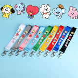 Kpop BTS Keychain Bangtan Boys Baby Series Name Bar Cartoon Keychain Mobile Lanyard Schoolbag Streamer