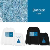 Kpop BTS Sweatshirt Bangtan Boys J-HOPE Album Blue Side Single Round Neck Sweatshirt Casual Sweatshirt