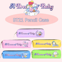 Kpop BT21 Pencil Case Bangtan Boys Pencil Case DREAM Baby Zipper Coin Purse Student Stationery