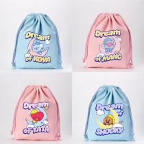 Kpop BTS Storage Bag Bangtan Boys Drawstring Bag Sleeping Dream Series Drawstring Bag Canvas Bag