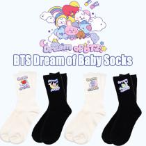 Kpop BTS Socks Bangtan Boys Dream of Baby Series Socks Printed Medium Socks CHIMMY COOKY TATA