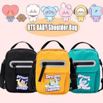 Kpop BTS Shoulder Bag Bangtan Boys BABY Shoulder Bag Canvas Bag Diagonal Canvas Cute Small Square Bag