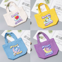 Kpop BTS Canvas Bag Bangtan Boys Sleeping Dream Series Tote Bag Supermarket Shopping Bag Working Meal Bag
